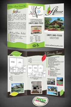 arbour apartments brochure tampa graphic design tampa web