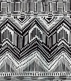 Ethnic Fabric- Dotted Graphic Black & Wht Home DecorEthnic Fabric- Dotted Graphic Black & Wht Home Decor,