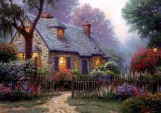 Thomas Kinkade Cottage i love this