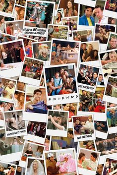Friends Polaroids - Official Poster. Official Merchandise. Size: 61cm x 91.5cm. FREE SHIPPING