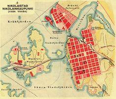 Nikolainkaupungin kartta 1910