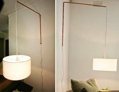 Build House Home: cottage renovation...diy wall mounted copper lamp