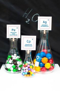 Science Themed Birthday Party with Lots of Realy Awesome Ideas via Kara's Party Ideas KarasPartyIdeas.com #ScienceParty #PeriodicTableOfElem...