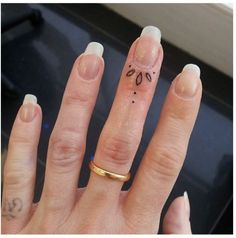Tiny perfect finger tattoo... I need this