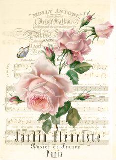 Bonitas imagenes vintage para decoupage y transfer Floral Vintage, Deco Floral, Vintage Flowers, Vintage Prints, Vintage Labels, Vintage Cards, Vintage Paper, Vintage Postcards, Decoupage Vintage