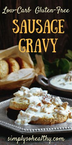 Sausage Gravy Recipe - Simply So Healthy This delicious Low-Carb recipe brings back a favorite southern breakfast dish for those on a or diet.This delicious Low-Carb recipe brings back a favorite southern breakfast dish for those on a or diet. Southern Breakfast, Low Carb Breakfast, Breakfast Dishes, Best Breakfast, Breakfast Recipes, Ketogenic Breakfast, Morning Breakfast, Breakfast Ideas, Dessert Recipes
