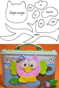 Manualidades con fieltro/ hooters with felt Kids Crafts, Owl Crafts, Diy And Crafts, Craft Projects, Sewing Projects, Arts And Crafts, Paper Crafts, Owl Templates, Applique Templates