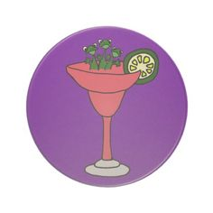 Frogs in Margarita Glass Drink Coasters #frogs #margaritas #drinks #funny #coasters #gifts And www.zazzle.com/tickleyourfunnybone*