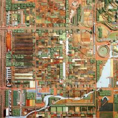 Frank Lloyd Wright's Broadacre City plan from 1932