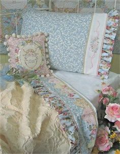 Sew cute fabric to plain pillow cases