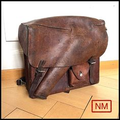 Vintage Swiss Army Leather Backpack for Flare by NaturaMachinata