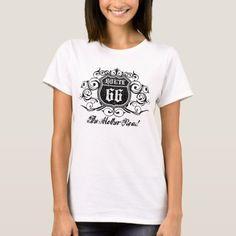 Grungy Graphic Rte. 66 T-Shirt   biker tattoos outlaw, drag racing quotes, biker riding #bikers #ridehard #bikersofinstagram, 4th of july party Drag Racing Quotes, Harley Davidson, Biker Tattoos, Bike Quotes, Vintage Biker, Biker Shirts, Biker Chick, Diy Shirt, Wardrobe Staples