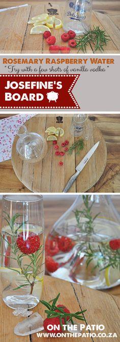 Vanilla Vodka Recipes, 1 Liter Of Water, Raspberries, Stems, Lemon, Rest, Table Decorations, Simple, Board