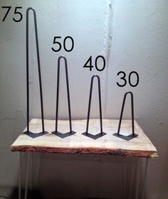 Foot hairpin 30 cm - table base - production artisanal Hairpin legs on Etsy, £11.28