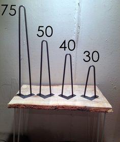 Pied en épingle 30 cm - piétement de table - Fabrication artisanale Hairpin legs