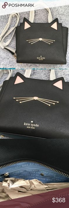 """Kate Spade jazz things up cat small bag Size 8.6""""* 9.2"""" * 4.7"""" Drop length:5"""" handheld 18.5""""-20.5"""" adjustable strap  New!!  Dust bag included $299shipped on Mer kate spade Bags Crossbody Bags"""