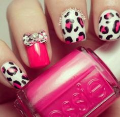 Hot pink leopard nais