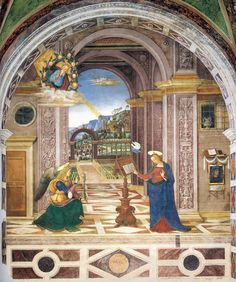Pintoricchio (Bernardino di Betto) ~ The Annunciation, c.1500-01