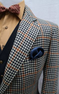 Mens Vintage Hickey Freeman Houndstooth Sportcoat by ViVifyVintage