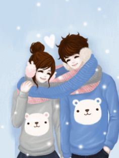 cute anime y Cute Couple Cartoon, Cute Cartoon, Creative Pictures, Cute Pictures, Girls In Love, Cute Girls, Anime Couples, Cute Couples, Korean Anime