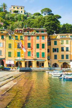 Houses in Portofino, Italy.                                                                                                                                                                                 Plus