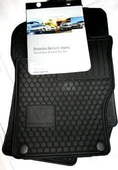 Genuine Mercedes-Benz Q6680686 - Rubber Floor Mats W164 ML320 ML350 ML550 Black