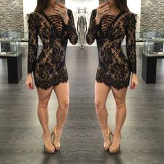 Womens Sexy Dresses Evening Party Night Club Black White Lace Dress 2015 Autumn Style women Bodycon Vestidos Femininos Dresses