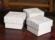 These pretty trinket or keepsake boxes are made using recycled cardboard, some glue and paint. You can make them as gifts or for storing tre...