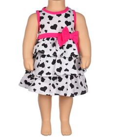 "Kidzone ""Hearts All Over"" Dress with Diaper Cover (Sizes 12M - 24M) (bestseller)"