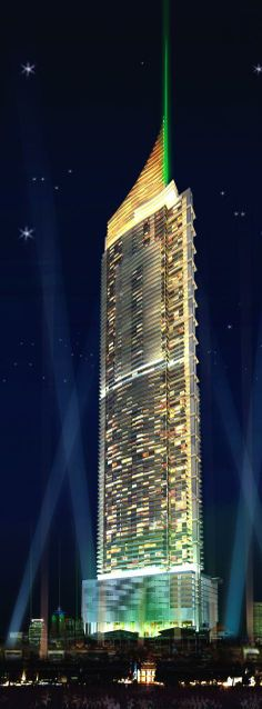 Ocean One Tower, Pattaya, Thailand by Woods Bagot Architects :: 91 floors, height 361m
