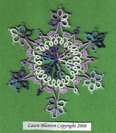 snowflake designed by Laura Blanton #tatted #tatting #tat #lace