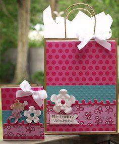 My Momenta: Girl Birthday Gift Bag and Card Set by Kris