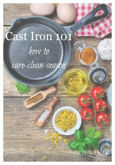 Cast iron is my favorite to cook with. But it can be scary when it comes to care and cleaning. Here are some great tips and step-by-step instructions to make caring for, cleaning, and seasoning your cast iron simple and easy. Skillet Cooking, Cast Iron Cooking, Homemade Cleaning Supplies, Cleaning Hacks, Cast Iron Care, Seasoning Cast Iron, Green Cleaning, Cooking Tips, Camping Cooking