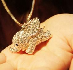 [grhmf2100001]Super Cute Baby Elephant Animal Pendant Necklace