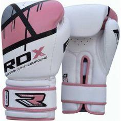 RDX Guantes de entrenamiento de combate femenino MMA; hecho en Cuero