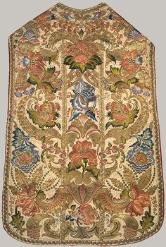 Chasuble, 18th century  Italian (probably Sicily)  Silk and metal thread