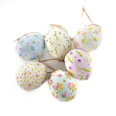 The Pastel Patience Brewster are a delicate and intricate set of six pastel Easter eggs that will look incredible in a bowl, sprinkled on your table or hanging from the Patience Brewster Egg Tree. Easter Egger Chicken, Easter Eggs Kids, Egg Tree, Toilet Paper Roll Crafts, Bunny Crafts, Easter Crafts, Blue Towels, Egg Decorating, Painting For Kids