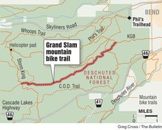 Cooler temps put mountain bikers back on the trail; Grand Slam Trail, west of Bend, is good technical riding