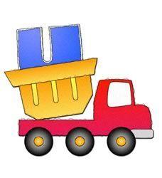JARDIM COLORIDO DA TIA SUH: Alfabeto de Caminhão Colorido
