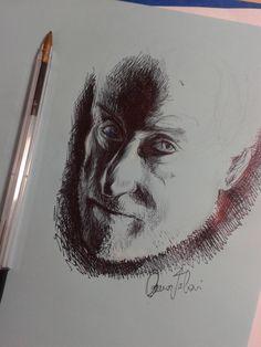 my pen sketch portrait of tywin lannister!!!!!