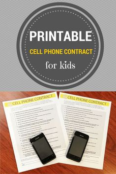 Before you get your kids a cell phone, make them sign a cell phone contract. Check out this free printable cell phone contract template.