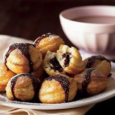 Chocolate Filled Pancakes