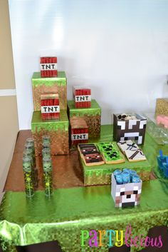 "Photo 2 of 31: Minecraft Birthday Party / Birthday ""{Minecraft Birthday}"" 