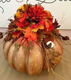 Pumpkin Arrangement for Fall