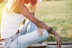 Getting a stain on a pair of crisp white jeans is almost inevitable. For coffee and grass stains, ru... - iStock/Jasmina007