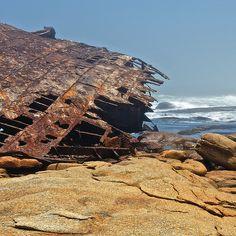 Diamond Coast shipwreck in the mist
