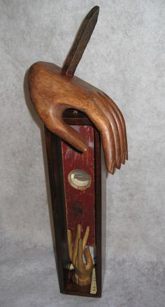 """""""On The Level"""" Found Object Assemblage by Roberta    Based on Isaiah 28:17;   """"I will make justice the measuring line, And righteousness the level.."""""""