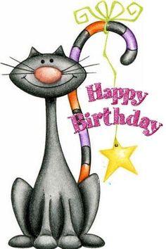 101 Funny Cat Birthday Memes for the Feline Lovers in Your Life Happy Birthday Art, Happy Birthday Wishes Cards, Birthday Blessings, Birthday Wishes Quotes, Happy Birthday Images, Birthday Pictures, Cat Birthday Cards, Birthday Cakes, Cat Birthday Memes