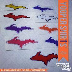 """U.P. SILHOUETTE"" Window Decals by Yooper Shirts   Yooper Shirts ®"