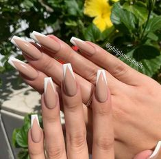 French Tip Acrylic Nails, Acrylic Nails Coffin Short, Simple Acrylic Nails, Summer Acrylic Nails, Best Acrylic Nails, Acrylic Nail Designs, Nail French, Pastel Nails, Coffin Nails